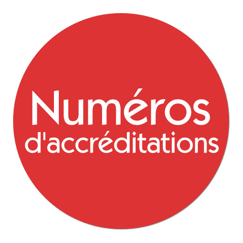Accréditations